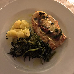 Butterflied Cornish monkfish with potatoes
