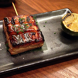 Sticky pork belly with salt and lime
